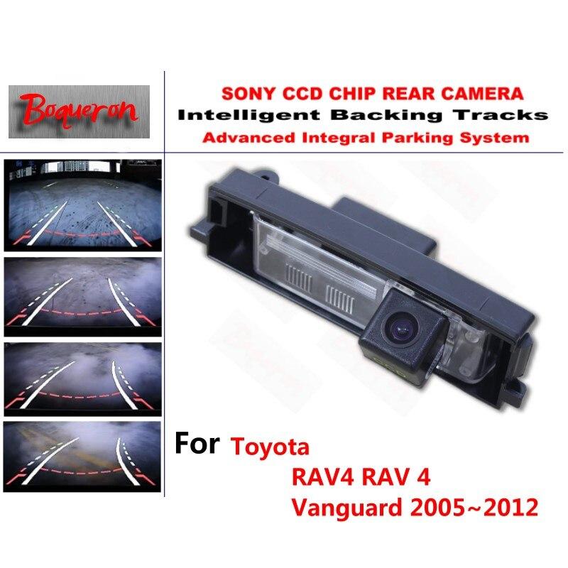 Pour Toyota RAV4 RAV 4 Vanguard 2005 ~ 2012 CCD caméra de stationnement de secours de voiture pistes intelligentes guidage dynamique caméra de recul
