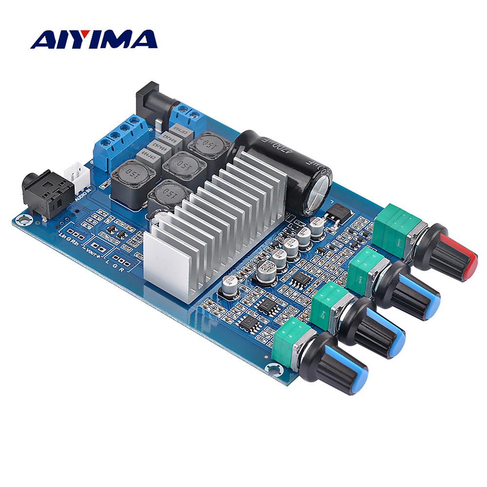 AIYIMA TPA3116 Amplifier Audio Board 50Wx2 Stereo HIFI Power Amplifier With Treble Bass Adjustment Theater Sound SystemAIYIMA TPA3116 Amplifier Audio Board 50Wx2 Stereo HIFI Power Amplifier With Treble Bass Adjustment Theater Sound System