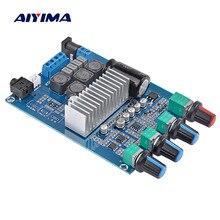Aiyima tpa3116 증폭기 오디오 보드 50wx2 treble bass 조정 극장 사운드 시스템이있는 스테레오 hifi 전력 증폭기