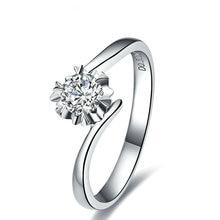 0.30ct Solitaire 6-Claw Diamond Women Ring Wedding Band Engagement Ring Handmade Diamond Jewelry 18K White Gold