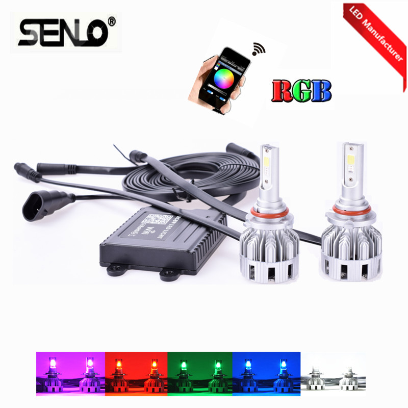 Multicolors changing wifi RGB led fog light lamp bulb headlight H7 9005 HB3 9006 HB4 H8 H11 PSX24W 5202 H16