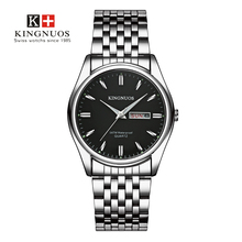 Известный бренд мужские часы из нержавеющей стали наручные часы Дата Неделя кварцевые часы водонепроницаемые часы бизнес Saat Relojes Hombre
