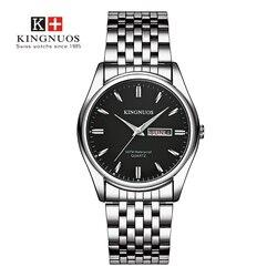 2019 famosa marca relógio masculino aço inoxidável relógios de pulso data semana relógios de quartzo à prova dwaterproof água relógio de negócios saat relojes hombre