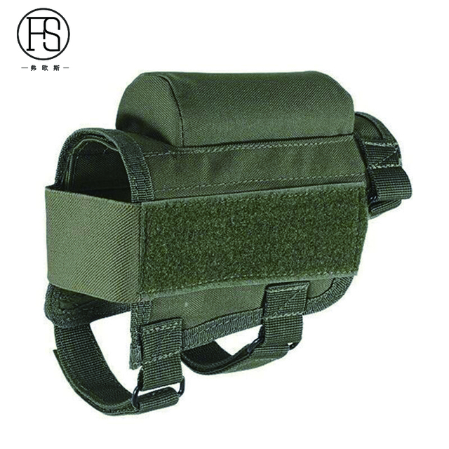 Nylon Tactical Nylon Buttstock Pouch Hunting Shooting Game Rifle Accessories Cheek Shell Cartridges Holder Carrier 3
