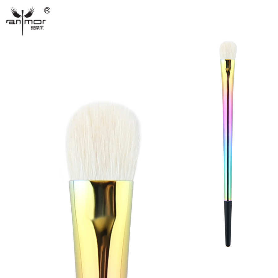 Anmor Unique Eye Brush Goat Hair Bländande Eyeshadow Makeup Brushes Toppkvalitet Blandning Make Up Up Brushes CFCC-037