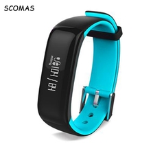 Scomas P1 Bluetooth Спорт умный Браслет крови Давление измерения умный Браслет фитнес-трекер Smart Band CLEVER