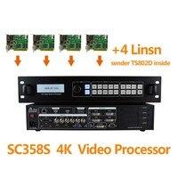 4 Linsn Ts802d Sending Video Card Amoonsky Video Wall Control 3x3 Led Screen Led Display Audio
