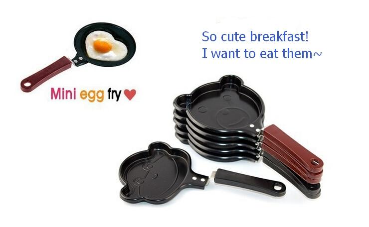 Wholesale 500pcs breakfast omelette pan kt love smiley omelette device frying pan pancake pan