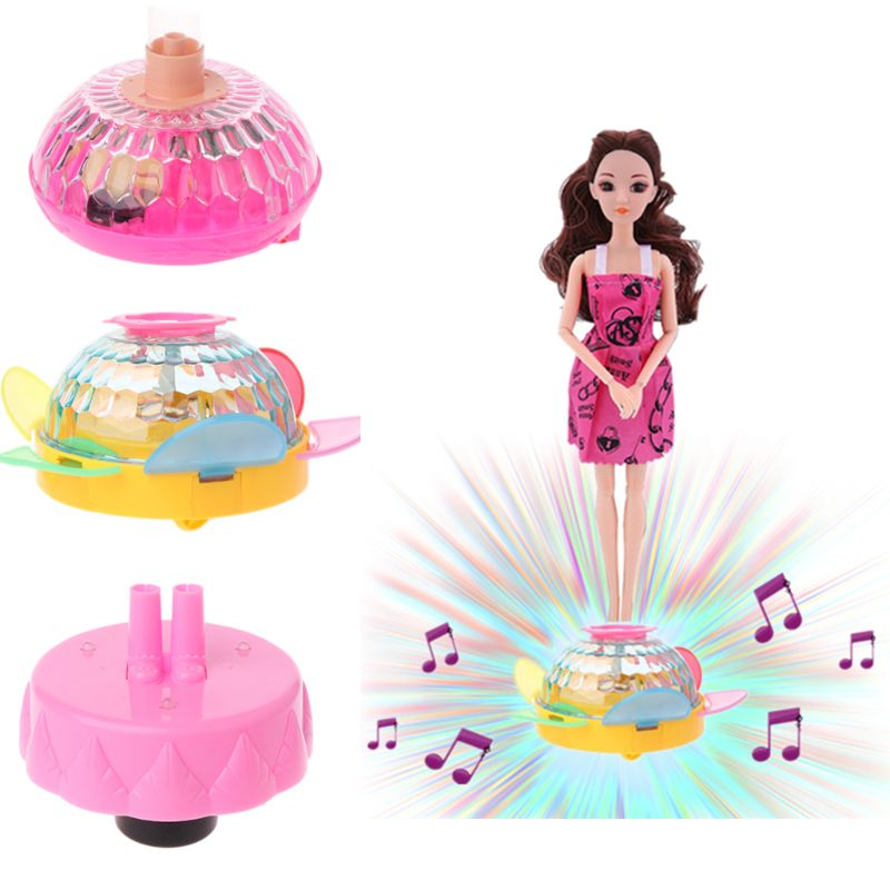 Plastic ABS Make Your Doll Move Dance Electric Base Music Light Wheel Dolls Accessories For Blythe Brabie 18in Girls Toy