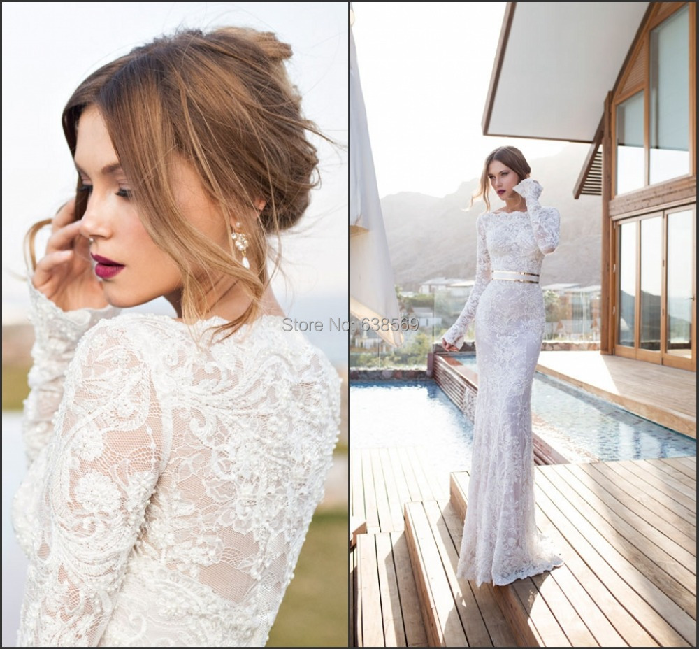 Long Sleeve Summer Wedding Dresses