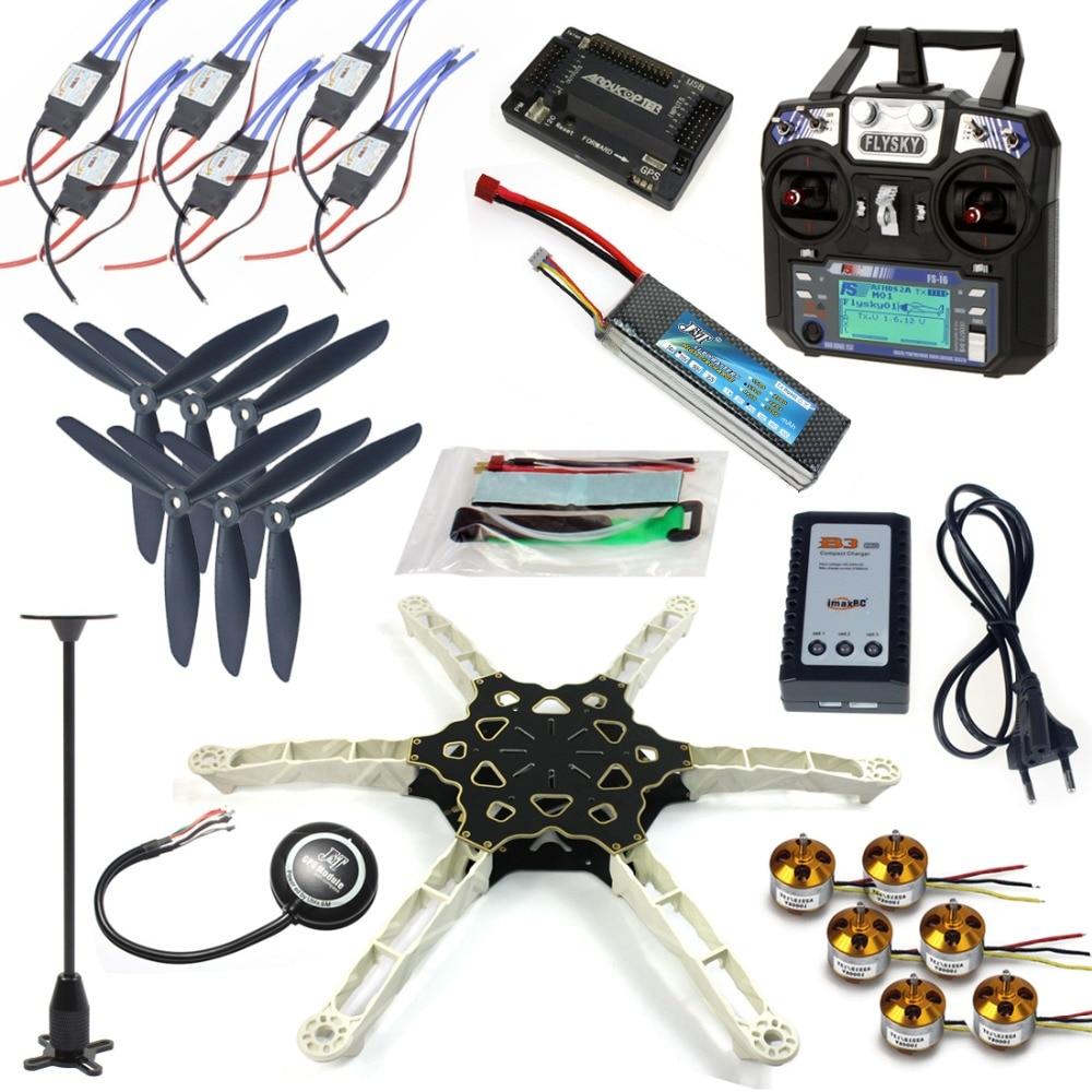 FPV Multi-rotor Drone Full GPS APM2.8 Kit Alien Across Carbon Fiber RC Quadrocopter Flysky FS-i6 6CH TX&RX Motor ESC F11798-F totem q450 alien across carbon fiber rc quadrocopter diy fpv multi rotor drone kkmulticopter v2 3 with rx