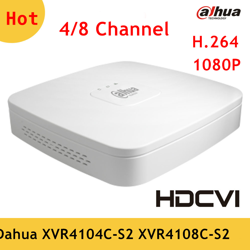 Dahua 4 Channel 8 Channel XVR Penta-brid 720P Smart 1U Digital Video Recorder XVR4104C-S2 XVR4108C-S2 Support HDD up to 8TB dahua penta brid xvr xvr4104hs support