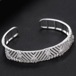 Image 4 - GODKI Luxury Trendy Saudi Arabia Bangle Ring Set Jewelry Sets For Women Wedding Engagement brincos para as mulheres 2019