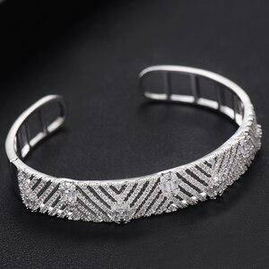 Image 4 - Godki Luxe Trendy Saudi Arabië Bangle Ring Set Sieraden Sets Voor Vrouwen Bruiloft Engagement Brincos Para Als Mulheres 2019