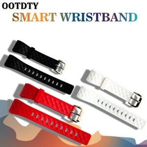 1 шт. силиконовый сменный черный/красный/белый ремешок для фитнес-браслета для смарт-браслета S2 Bluetooth