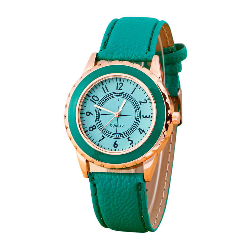Dignity 2017 Fashion Womens Wrist Watches Female Geneva Faux Leather Band Strap Analog Quartz Wristwatches reloj Apr17 fabulous 2016 quicksand pattern leather band analog quartz vogue wrist watches 11 23