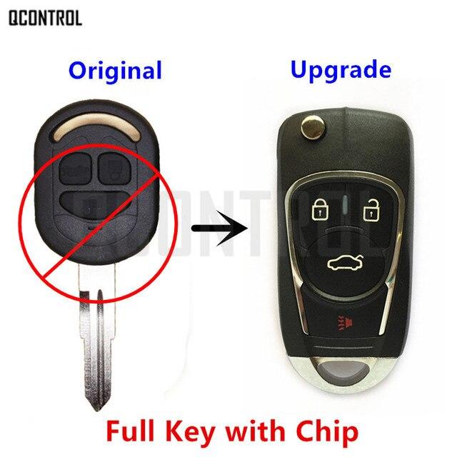 QCONTROL actualizado llave remota del coche DIY para Chevrolet Lacetti/Optra/Nubira vehículo Flip Pocket alarma 2005 2006 2007 2009 2008