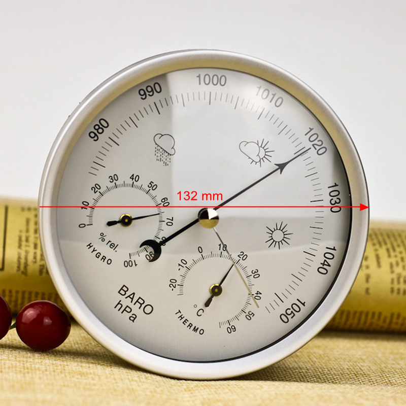 Image 4 - Wall Mounted Household Barometers Thermometer Hygrometer High  Accuracy Pressure Gauge Air Weather Station Hanging  InstrumentTemperature Instruments   -