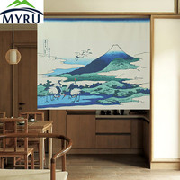 Japanese Style Creative Partition Curtain Cloth Door Hanging Curtain Cranes Door Curtain
