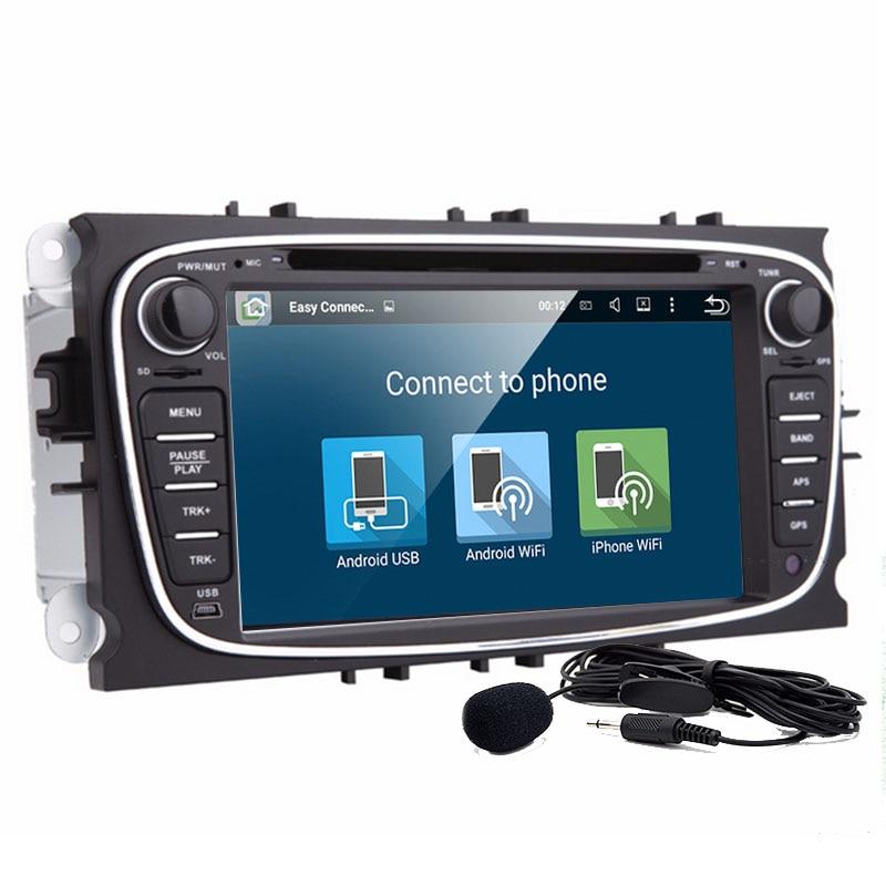Livraison gratuite 7 pouces Android 8.01 Lecteur DVD de Voiture Pour FORD Focus Mondeo dvd de voiture 2Din Avec Wifi GPS Navi radio Carte gratuite cfc + caméra