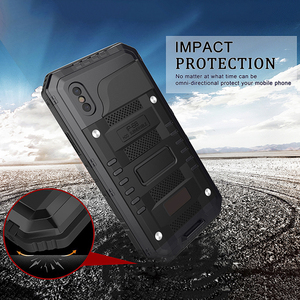 Image 3 - Doom Armor Waterproof Shockproof Metal Case + Silicone Protective Phone Cases For iPhone X XR XS Max 8 7 6 6S Plus Cover