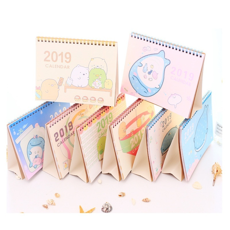 Adaptable 2019 Kawaii Cartoon Whale Animal Diy Animals Large Desktop Paper Calendar Agenda Organizer Daily Schedule Planner Calendars, Planners & Cards