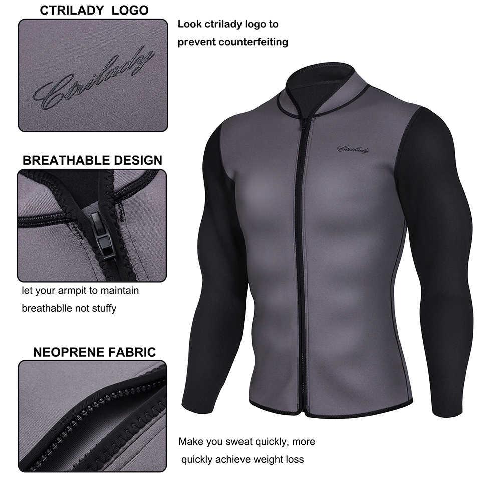 3e26c5bfef7 ... Junlan Zipper Shaping Jacket for Men Neoprene Swimming Shirt Sauna Vest  High Quality Slimming Shapers Body ...