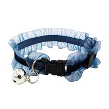 Lace Cat Collar with Bell Elastic and Adjustable Small for Dogs Pet Necklace