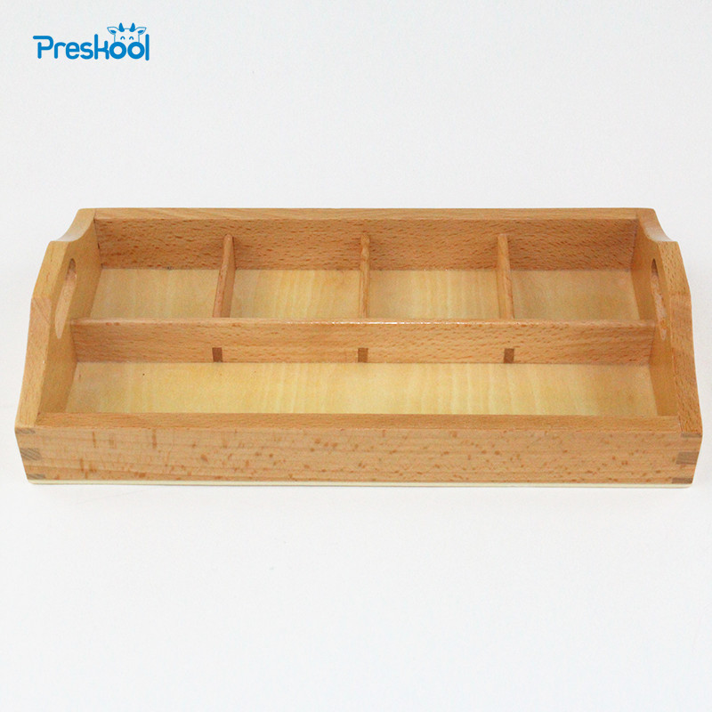Baby Toy Montessori Wooden 4 Compartment Sorting Tray Early Education Preschool Toys Brinquedos Juguetes new wooden montessori family version brown stair width 0 7 cm to 7 cm early childhood education preschool training baby gifts