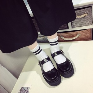 Image 2 - Lolita Lady Maid Uniform Performance Buckle Round Head Thick High Heel Muffin Thick Sole Single Shoe  Cosplay  Size35 39