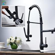 ORB кухни выпадающее ручной опрыскиватель 360 градусов вращения одной ручкой с горячей и холодной водой