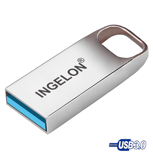 Ingelon pendrive 64 gb 3.0 Thumb Drive 16GB 32GB 64GB Memoria Metal Personalizado logo DJ Cle USB Stick Disk On Key cartoon usb