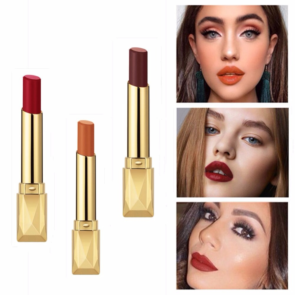 Beauty Matte Lipstick Long Lasting Cosmetics Maquiagem Women Makeup Red Batom Pigments Waterproof Lip Stick Pintalabios Mate 23