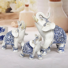 Living Room Resin Elephant Decoration Holiday Gift Feng Shui Home Furnishings Animal Decoration Elephant Crafts Ornaments