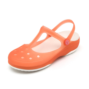 Image 3 - Zuecos de verano transpirables para mujer, pantuflas dulces, sandalias de gelatina, calzado para jardín