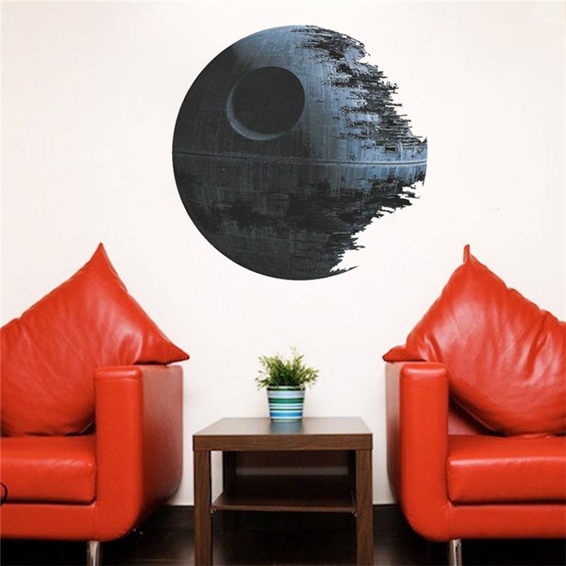 HTB1JvXvOFXXXXbIXpXXq6xXFXXXT - Death Star Wars Poster Wall Stickers Movie Wall Decals Art for Boys Nursery Kids Room Home Decoration WallPaper Kids Wall Paper