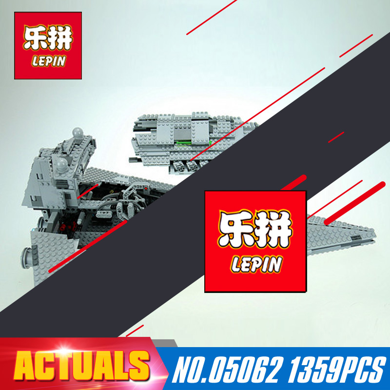 1359Pcs Lepin 05062 Star Wars The Imperial Super Star Destroyer Set Educational Building Blocks Bricks Compatible Toy Gift 75055 lepin 05028 3208pcs star wars building blocks imperial star destroyer model action bricks toys compatible legoed 75055