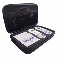 Hard Travel Carrying Case For Nintendo Super NES SNES Classic Mini Console 2 Controllers HDMI Cable