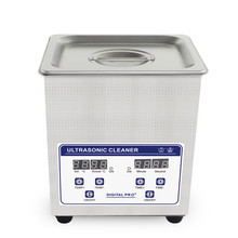 2L Digital Ultrasonic Cleaner Baskets Jewelry Watches Dental Ultrasoon Reiniger Heated Ultrasonic Bath Cleaning Tank 60W