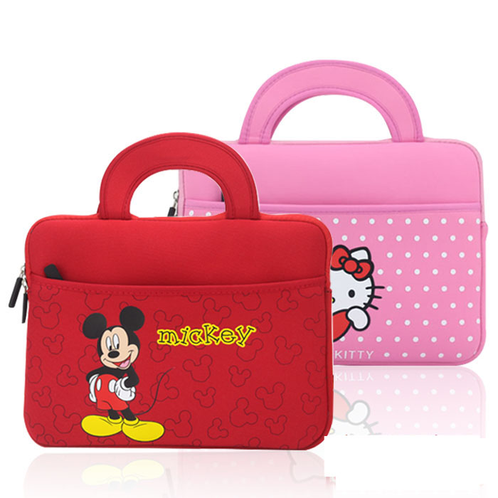 Universal Cartoon tablet sleeve pouch case hand bag for 10