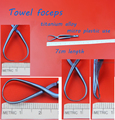 Medical use titanium alloy towel forceps towel clamp self-retaining forceps 7cm length micro plastic general instrument
