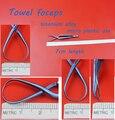 Uso médico titanium liga fórceps toalha toalha braçadeira auto-retenção fórceps 7 cm comprimento micro instrumento de plástico em geral