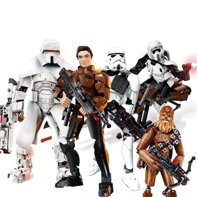Star Wars Action Figure Range Trooper Han Solo Darth Maul Compatible with legoingly 75536 75535 75537 Building Block Toy 1pc building blocks star wars figures luke skywalker kanan han solo death trooper darth vader action bricks kids diy gift toys