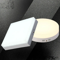 1pcs 6W12W18W24W Square Round Led Panel Light Surface Mounted LED Downlight Ceiling Down 110 240V Lampada