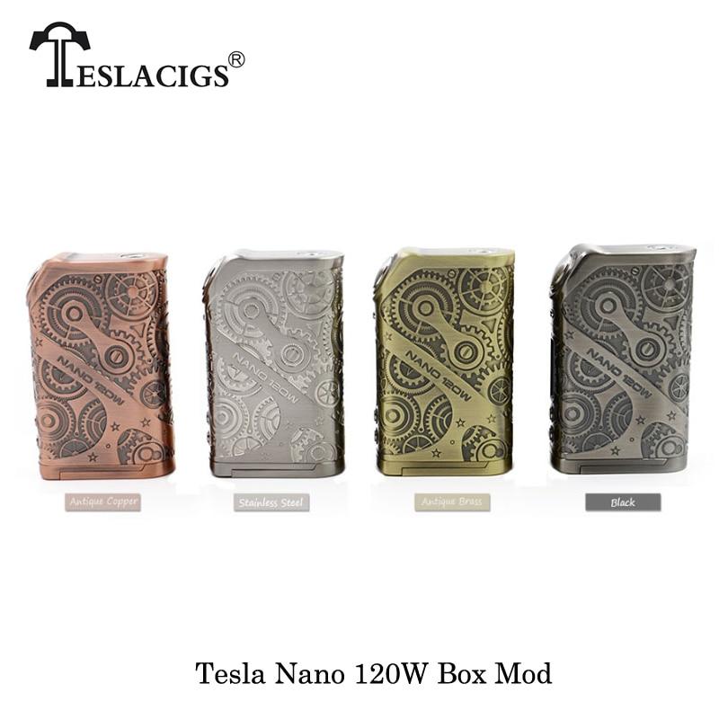 100% Original Elektronische Zigaretten Tesla Nano 120 watt VW APV Box Mod Fit TESLA H8 Subohm 2017 beste noMechanical Mod vape Verdampfer