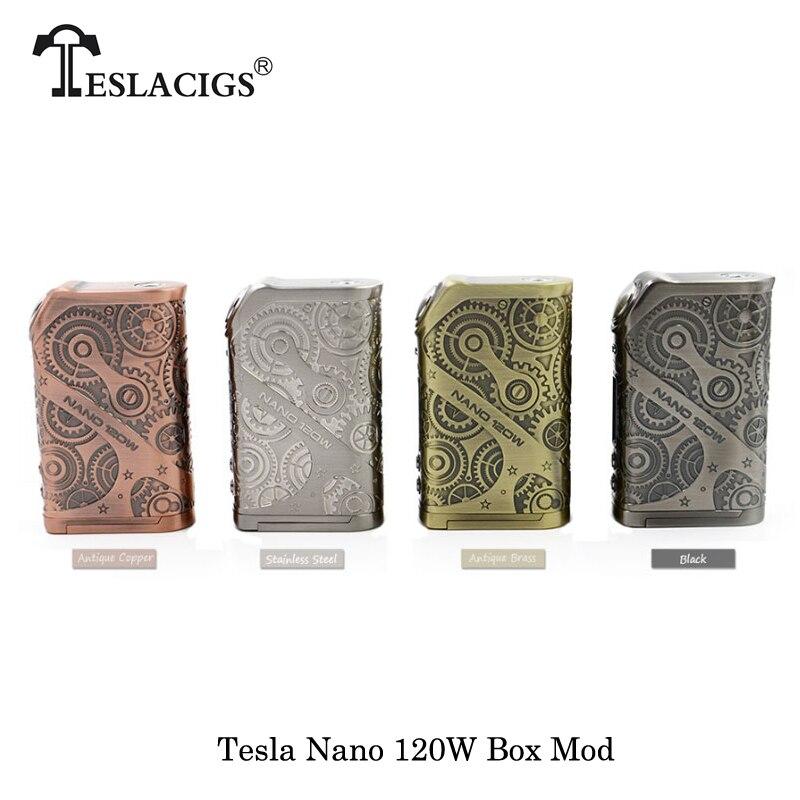 100% cigarrillos electrónicos originales Tesla Nano 120 W VW APV caja ajuste Mod TESLA H8 Subohm 2017 mejor noMechanical Mod vape vaporizador