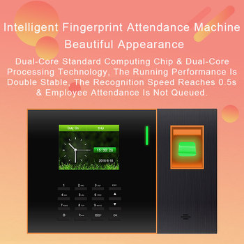 Biometric Fingerprint Time Attendance System TCP/IP USB Access Control Attendance Time Clock Recorder Reader Employees Device цена 2017