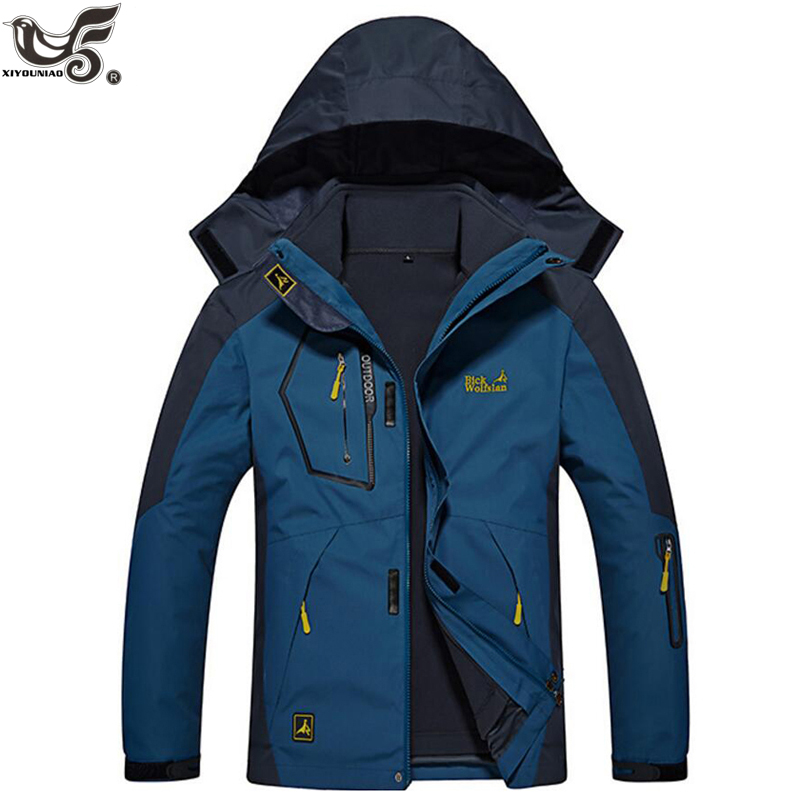 XIYOUNIAO plus size L~6XL 8XL winter jacket men outwear 2 in 1 Removable liner thick waterproof cotton   parka   coat men overcoat