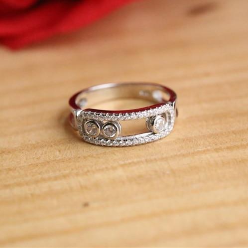 New 925 Sterling Silver micro set of zircon fashion geometric Ring Tyme Rings For Women love Ring Men Carter Turkey men Jewelry