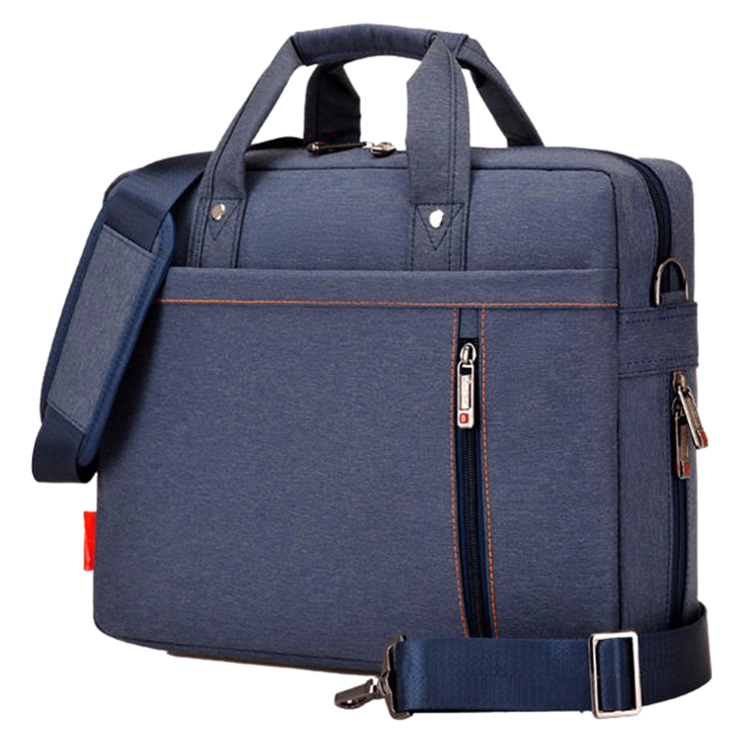 Laptop bag 13 inch Shockproof airbag waterproof computer bag men and women luxury thick Notebook bag (Blue)